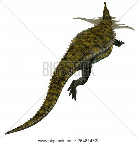 Desmatosuchus Dinosaur Tail 3d Illustration - Desmatosuchus Was An Armored Herbivorous Dinosaur That