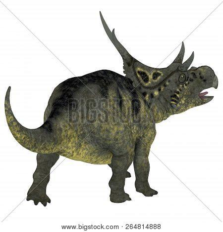Diabloceratops Dinosaur Tail 3d Illustration - Diabloceratops Was A Horned Herbivorous Dinosaur That