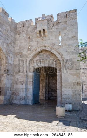 The Main Entrance To The Old City Is The Jaffa Gate, Which Was Built By Suleiman In 1538. The Name I