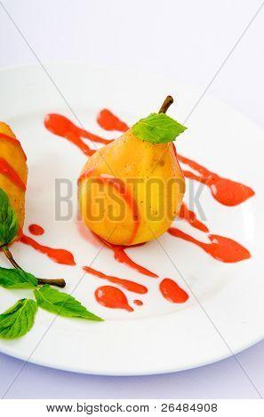 Sweet pear as a dessert