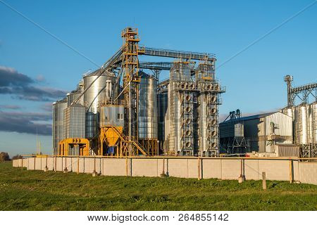 Silver Silos On Agro-processing Plant For Processing And Storage Of Agricultural Products, Flour, Ce