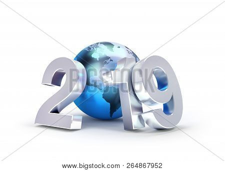 2019 New Year Symbol For Global Business