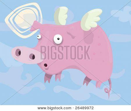 Flying pig.