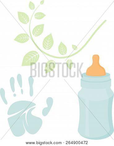 Little Man Baby Shower Related Items Collection. Newborn Set. Baby Boy Elements, Handprint, Baby Nur