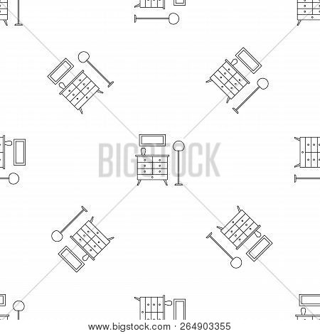 Room Clothes Drawer Pattern Seamless Vector Repeat Geometric For Any Web Design