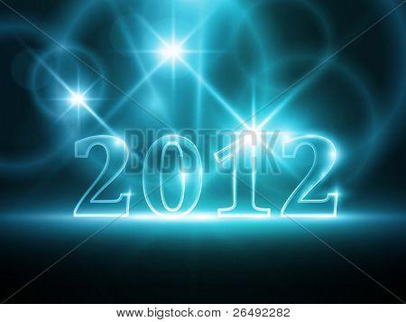 Yarı saydam sayısı 2012 soyut koyu mavi zemin üzerine. Işık efektleri yumuşak bir parlaklık vermek. EP
