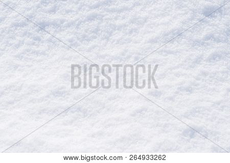 Snow White Texture Winter Background Of Fresh Cold Ice, Snowy Icy Surface Pattern Of Chill Snowflake