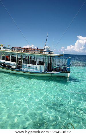 Ship In The Maldives