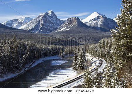 Railroad In The Rockies