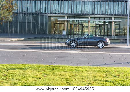 Essen, Nrw, Germany - October 11, 2015:  Crossfire, Side View Of The New Administrative Building Of