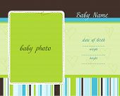 Baby Arrival Card with Photo Frames poster