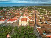 Above view on Granada town in Nicaragua. Travel destination in Nicaragua poster
