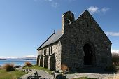 Lake Tekapo Old Church - New Zealand poster