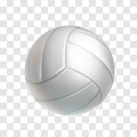 Realistic White Volleyball Ball Isolated On Transparent Background. Sports Equipment For Team Game V