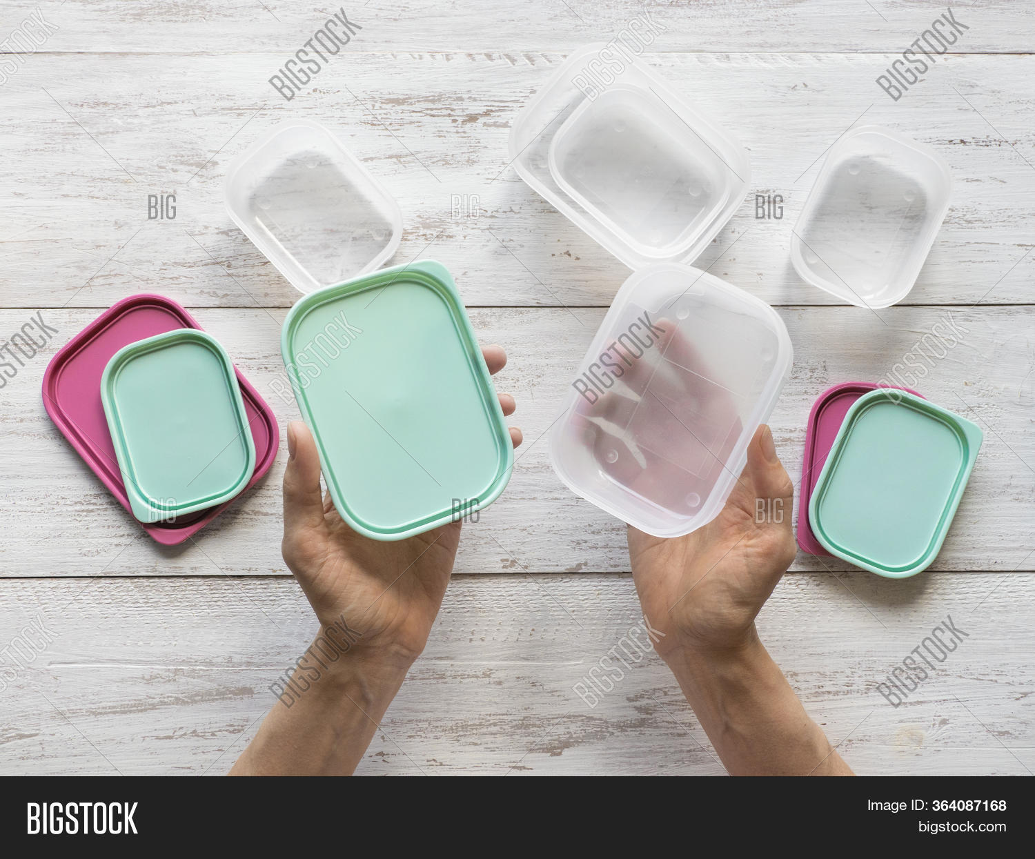 Plastic Containers For Transportation And Storage Food Products.