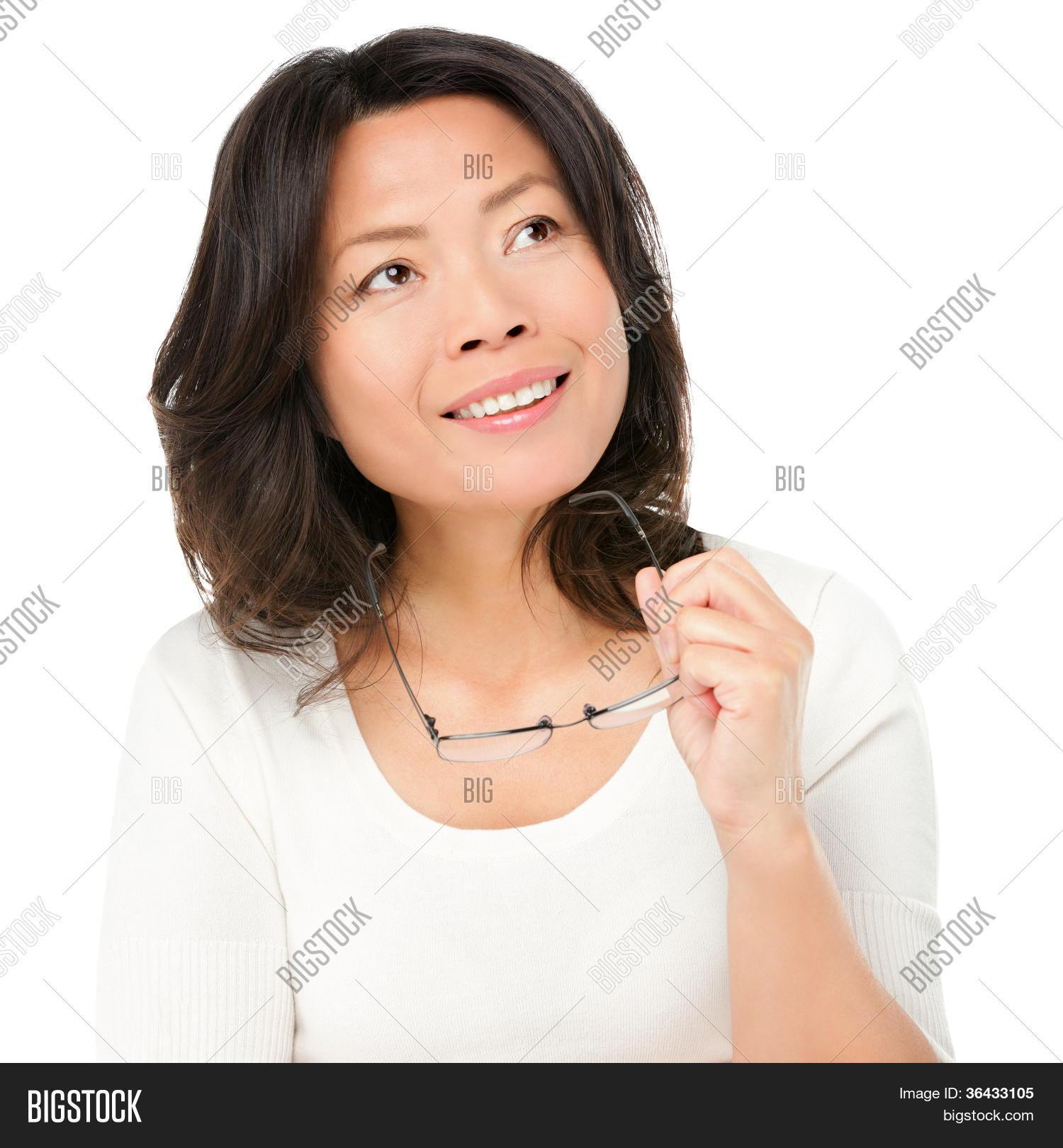 Thinking Mature Asian Woman