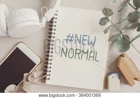 New Normal Words For Disruptive Innovation Way Of Work From Home, Homeschooling, Online Meeting And