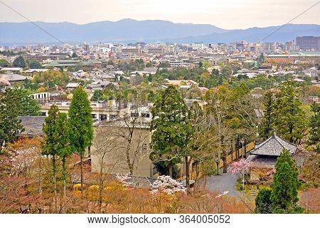 Kyoto, Jp - April 10 - Kyoto City Overview On April 10, 2017 In Kyoto, Japan.