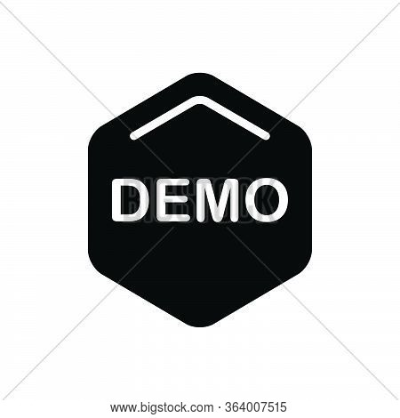 Black Solid Icon For Demo Exhibition Demonstration