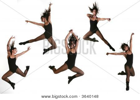 Ethnic Dancer With Many Poses
