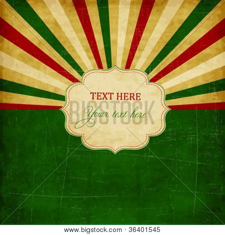 Vintage green scrap template with frame