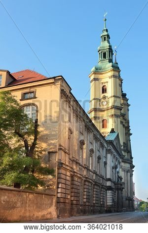 Church of John the Baptist at old town in Legnica, Poland