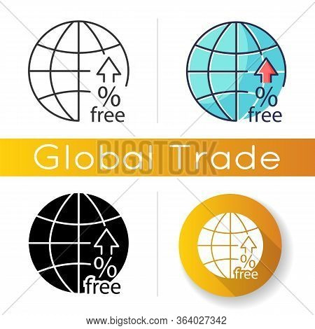 Non-tariff Barriers Icon. Tax Free Trade. Import Quota And Licensing, Subsidy And Customs Delay, Tec