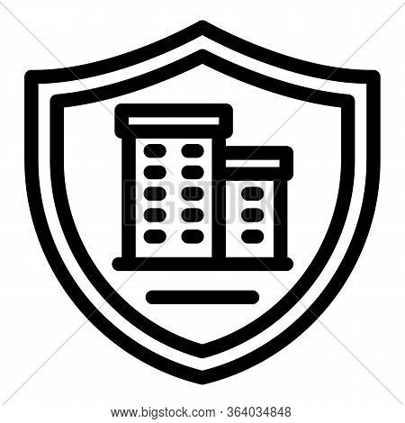 Residential Security Icon. Outline Residential Security Vector Icon For Web Design Isolated On White