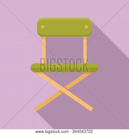 Camping Portable Chair Icon. Flat Illustration Of Camping Portable Chair Vector Icon For Web Design