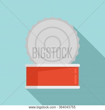 Open Tin Can Icon. Flat Illustration Of Open Tin Can Vector Icon For Web Design