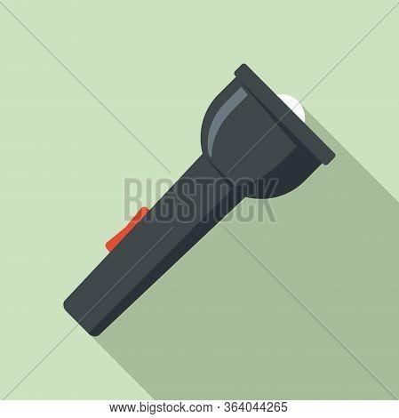 Camping Flashlight Icon. Flat Illustration Of Camping Flashlight Vector Icon For Web Design