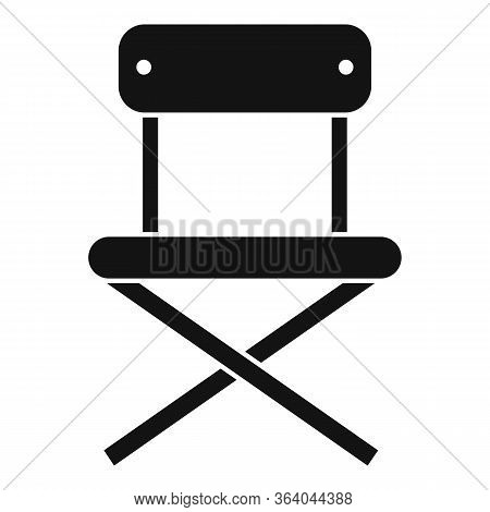 Camping Portable Chair Icon. Simple Illustration Of Camping Portable Chair Vector Icon For Web Desig