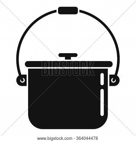 Camping Food Fire Pot Icon. Simple Illustration Of Camping Food Fire Pot Vector Icon For Web Design