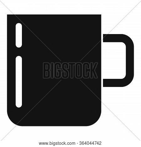 Camping Steel Cup Icon. Simple Illustration Of Camping Steel Cup Vector Icon For Web Design Isolated