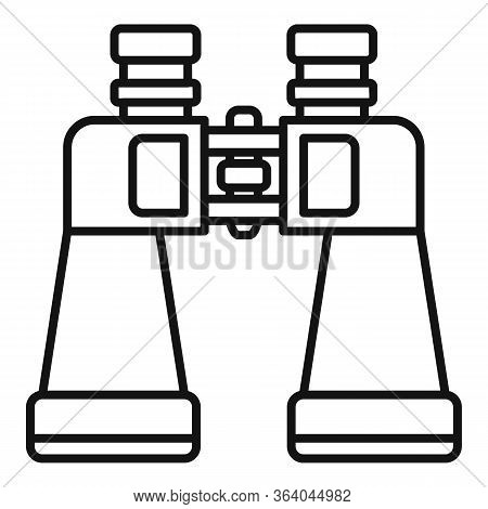 Binoculars Icon. Outline Binoculars Vector Icon For Web Design Isolated On White Background