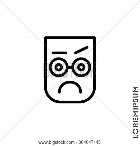 Thinking Face Emoji Outline Icon. Linear Style Sign For Mobile Concept And Web Design. Emoji Ponderi