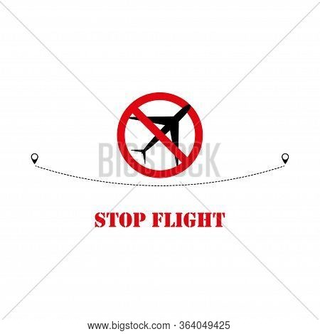 Stop Flight Icon Isolated On White Background. Vector Illustration