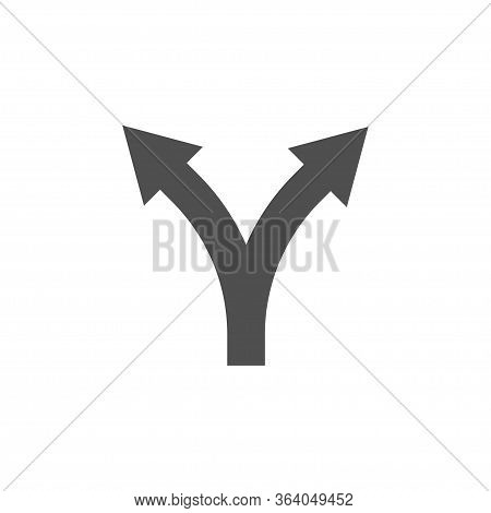 Two Way Direction Arrow Icon Isolated On White Background. Vector Illustration