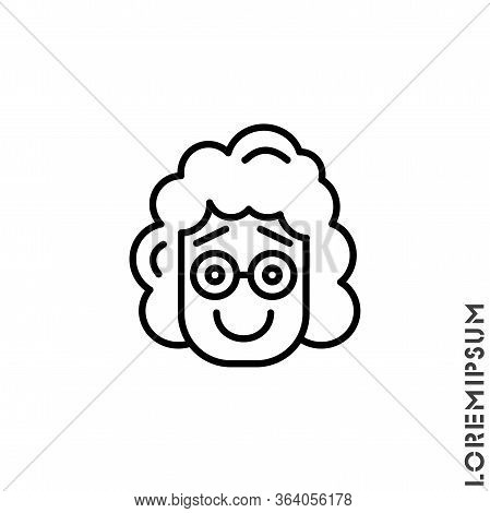Laughing, Emoticon Girl, Woman Icon. Fun, Face Vector. Humor, Smile, Positive Symbol For Web And Mob