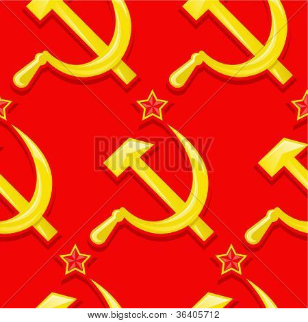 Sovietic seamless pattern / wallpaper