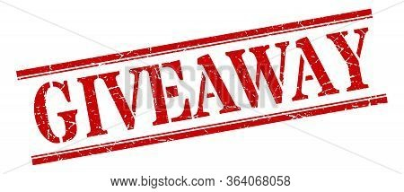 Giveaway Stamp. Giveaway Square Grunge Sign. Giveaway