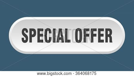 Special Offer Button. Special Offer Rounded White Sign. Special Offer