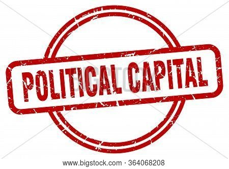 Political Capital Stamp. Political Capital Round Vintage Grunge Sign. Political Capital