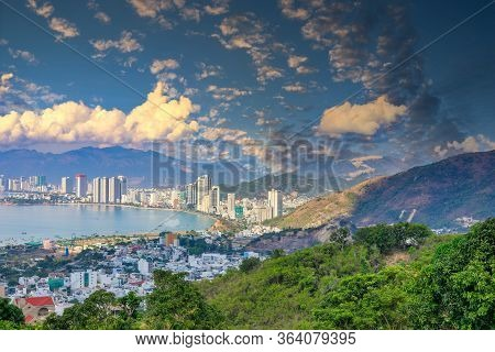 1.02.2020 Vietnam Nyachang Beautiful View Of Nha Trang Bay And Nha Trang Of The South China Sea With