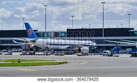 Amsterdam / Netherlands - October 7, 2018: China Southern Airlines Airbus A330-300 At Amsterdam Airp
