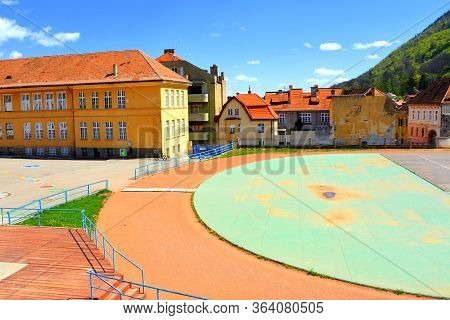 Covid-19 Time. Typical Urban Landscape Of The City Brasov, A Town Situated In Transylvania, Romania