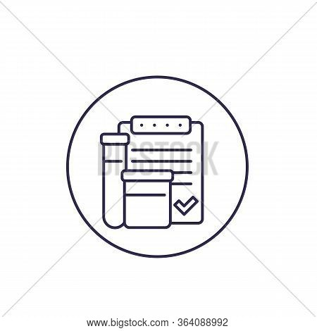Doping Control Vector Line Icon, Eps 10 File, Easy To Edit