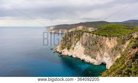 Beautiful View Of Cliffs Of Keri On Zakynthos Island. Greece