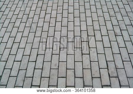 Abstract Gray Paving Slab Texture Background. Close-up. Paving Slabs Close-up.