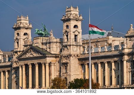 Budapest / Hungary - October 20, 2018: Ethnographic Museum In Budapest, Hungary. One Of The Largest